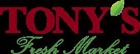 A theme logo of Tony's Fresh Market