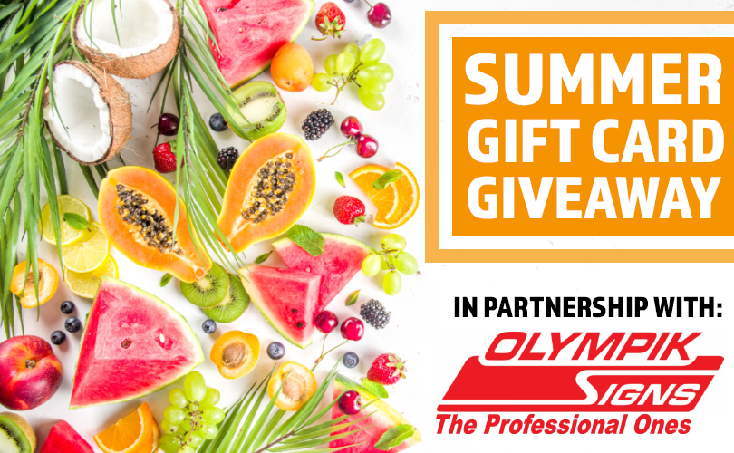 Gift Card Giveaway Olympik Signs
